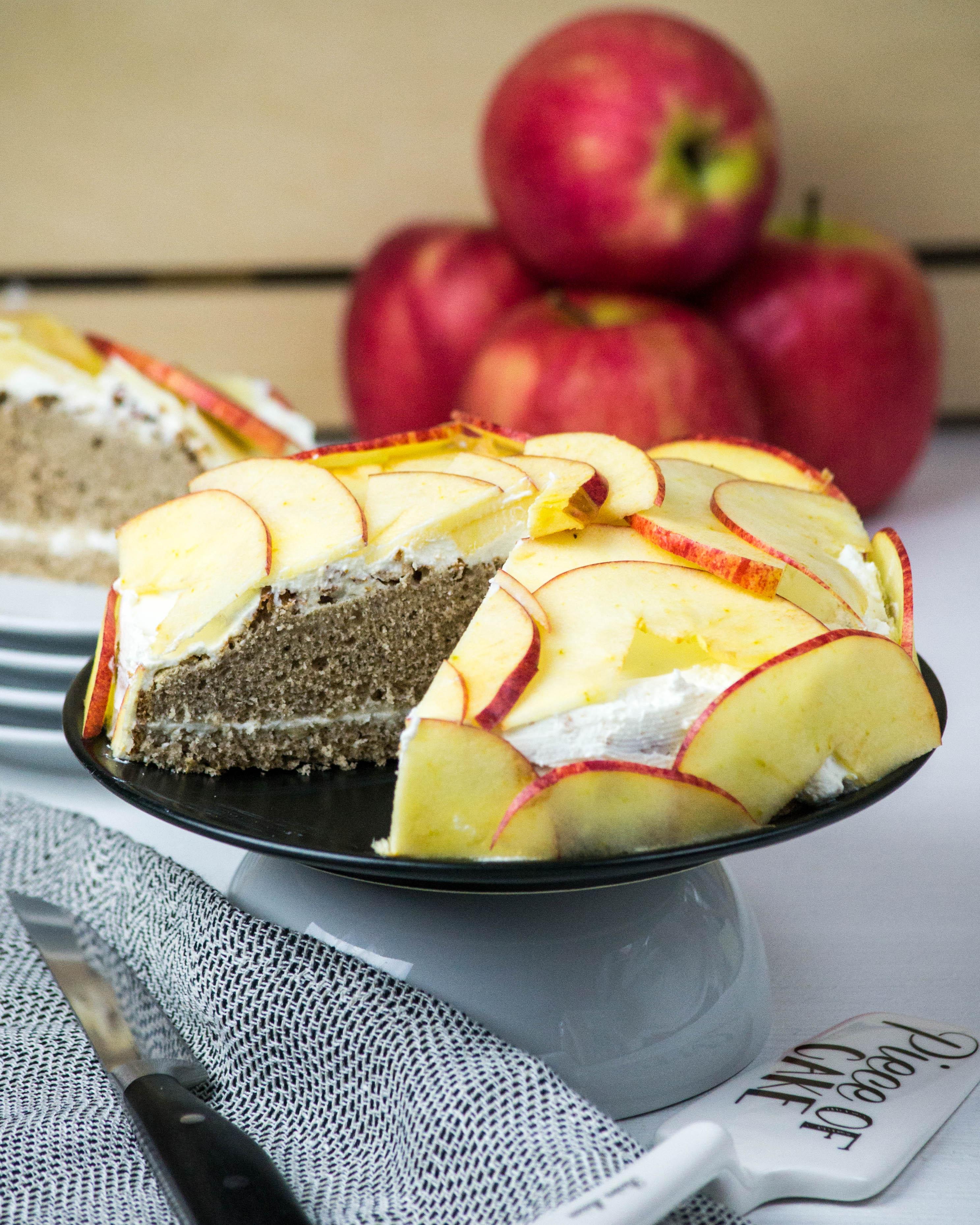 Apfel Buchweizen Kuchen Mit Quarktopping Fit Mit Pascal