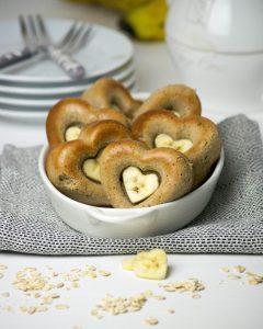 Bananen-Protein-Herzen