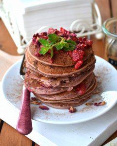 Vegane Smoothie-Pancakes