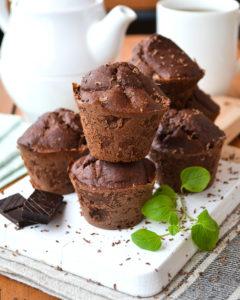 Bananen Kakao Muffins